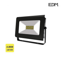 Proyector super led 100w 6.300 lumen ip65 120-160º 4.000k edm 391x316x94mm