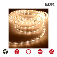 Tubo flexiled   led 2 vias multifuncion 36leds/mts blanco calido 48mts (ip44 interior-exterior) edm. precio por metro
