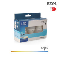 Kit 3 bombillas led esfericas 5w e14 6.400k luz fria edm